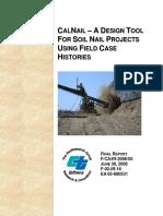 Calnail Design Tool Using Histories