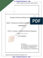 EEE Miroprocessor and Microcontroller Laboratory