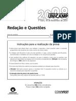 Unicamp2008 1fase Prova