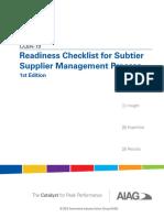 AIAG Subtier Checklist