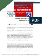 Roles & Responsibilities of a Maintenance Engineer _ LinkedIn