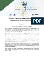 Between European and Regional Identity - Programme