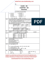 NCERT Solutions Class 6 Mathematics Decimals