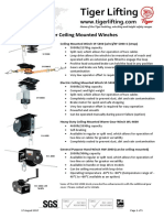 Technical Sheet Ceiling Mounted Winches 201708