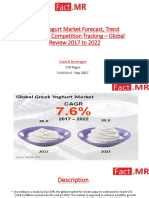 Greek Yogurt Market Forecast, Trend Analysis & Competition Tracking – Global Review 2017 to 2022