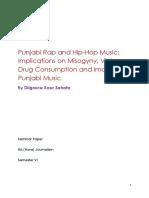 Seminar Paper- PUNJABI RAP AND HIP-HOP MUSIC