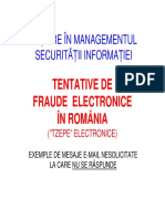 Tentative de Fraude Electronice