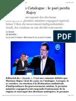 Elections en Catalogne