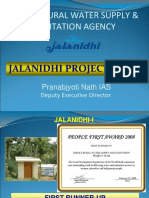 Sustainable Water Supply Sanitation Jal Nidhi Experience