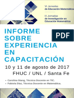 Informe VI Jornadas de Educación Matemática- III Jornadas de Investigación en Educación Matemática