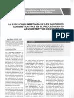 La Ejecución Inmediata de Las Sanciones Administrativa en El Pad - Autor José María Pacori Cari