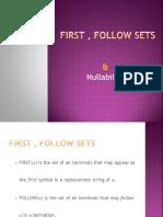 First , Follow Sets