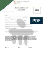 Placement Registration Form - FoE_2017-18