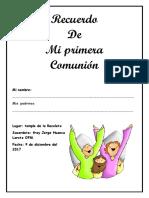 Cuadernillo Mi Primera Comunion 2017