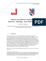 Peter Joseph Boettke, Hayek and Market Socialism [Science, Ideology, And Public Policy]