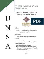 Conductores en Equilibrio Electrostático