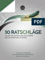 30 Ratschläge an Die Anführer Und Soldaten Des Islamischen Staates Von Schaych Abu Hamza Al-Muhadschir