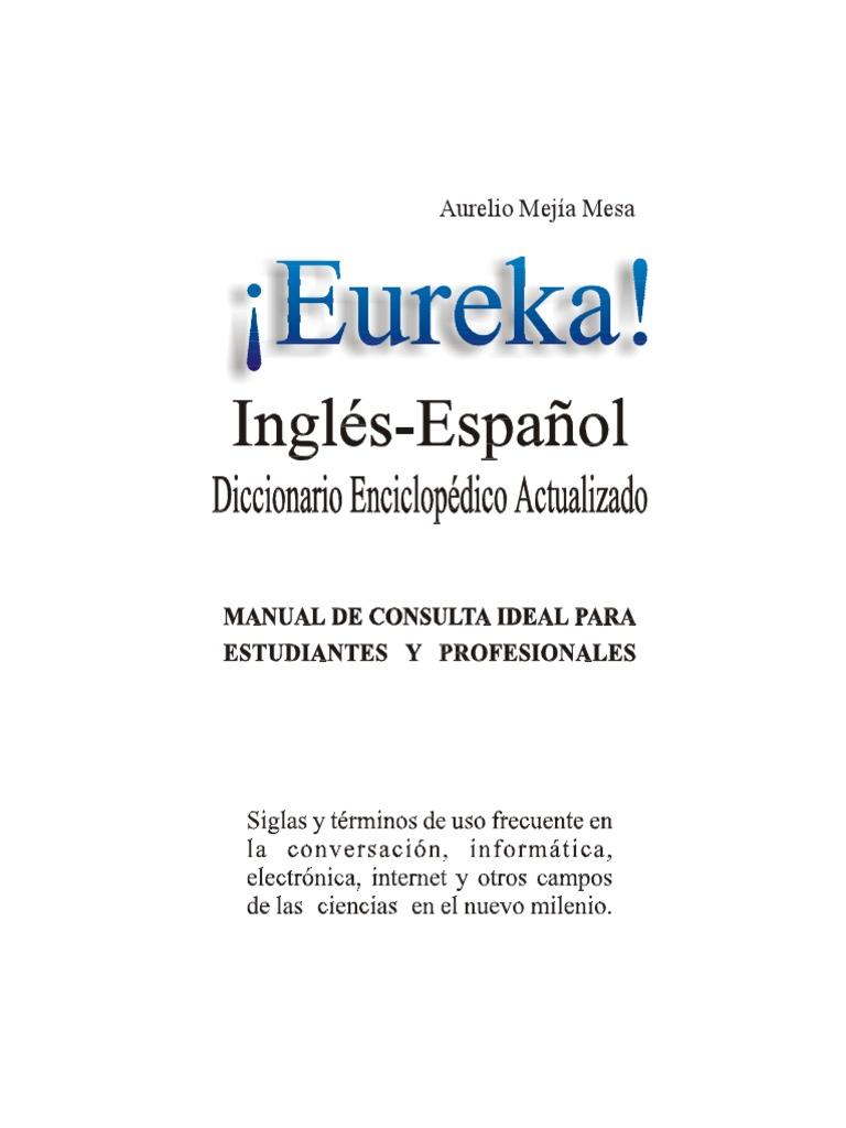 Eureka Diccionario Tecnico Ingles-español