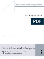 Aguilar, Gonzalo - Television y Vida Privada