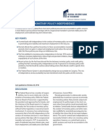 Perspectives Monetary Policy Independence