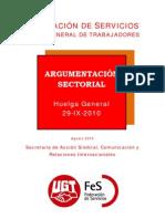 Razones de los Sectores de FeS para la huelga General