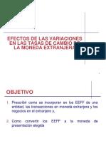 Efectos de Las Variaciones en Las Tasas de Cambio de La Moneda Extranjera