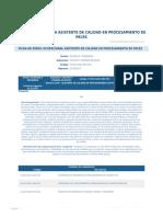 Perfil Competencia Asistente de Calidad en Procesamiento de Peces