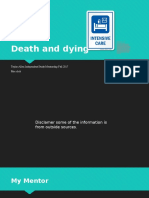 death   dying outline