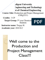 1. Production Managementand, Planning and Control