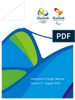 Rio 2016 Customs Freight Manual Final