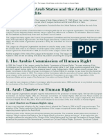 ACIHL - The League of Arab States and the Arab Charter on Human Rights