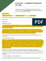 Progressive Aluminium Ltd and vs Registrar of Companies and Anr on 6 December 1995