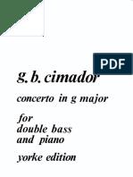 Cimador - Concerto