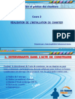 Cours 2.Réalisation de Linstallation Du Chantier