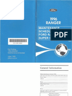 Maintenance Schedule Ford Ranger XLT Super Cab 1996