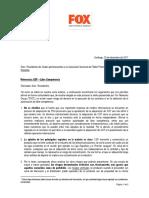 Carta Con Argumentos Libre Competencia Enviada a Presidentes Del Fútbol Chileno