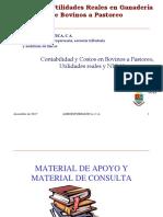 Costos y Utilidades Reales en Bovinos a Pastoreo Bajo NIC 41-Taller 2013