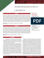Produção de acidos organicos