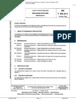Norme NF T 65 011-10-1984 Emulsions de Bitume