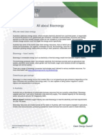 Bioenergy Fact Sheet  - Clean Energy Council