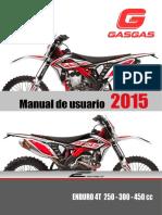 Manual Gasgas Enduro 4t 2015 Esp