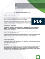 Hydroelectricity Fact Sheet