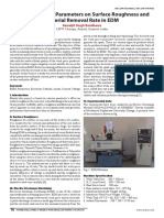 Effect of Process Parameters on Surface Roughness and  Material Removal Rate in EDM