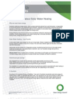 Solar Water Heating Fact Sheet - Clean Energy Council