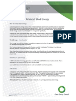 Wind Energy Fact Sheet  - Clean Energy Council