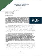 House Letter to Secretary of State Hilary Clinton Regarding LRA Violence