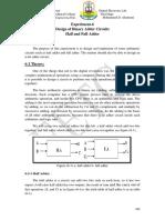 Exper-6 Binary Logic Adder Circuit
