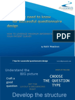 7tips Successful Questionnaire Design