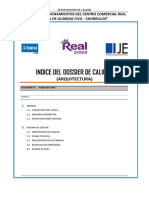 Indice Dossier Calidad - Arq. Rev. 1