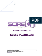 Manual de Usuario SCIRE Planillas
